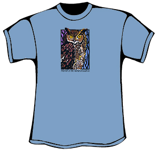 Great Horned Owl T-Shirt (Organic)