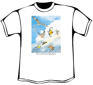 Friends in High Places Birds T-Shirt (Womens Organic Slim Fit)