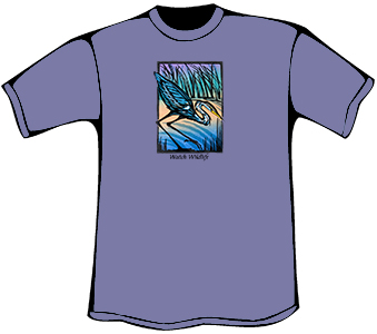 Great Blue Heron T-Shirt (Heavyweight)