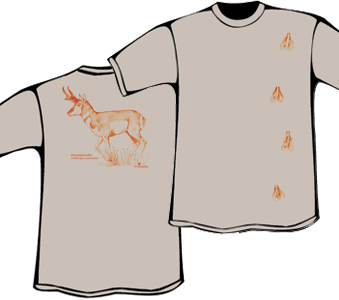 Pronghorn T-Shirt with Tracks (Heavyweight))