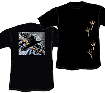 Raven T-Shirt with Tracks (Organic)