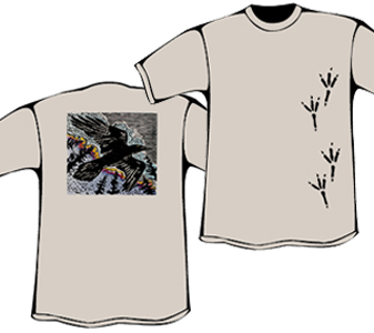 Raven T-Shirt with Tracks (Heavyweight)