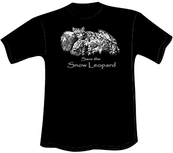 Snow Leopard T-Shirt (Heavyweight)