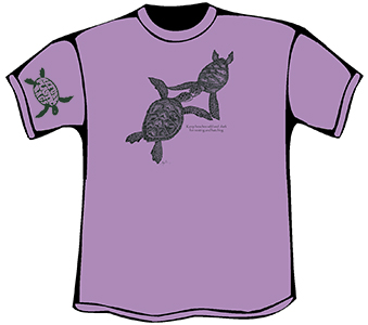 Turtles Embrace T-Shirt (Womens Relaxed Fit) - Lavender