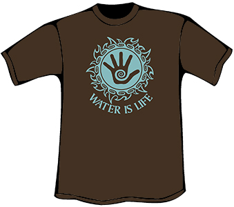 Water is Life T-Shirt (Organic - Chocolate)