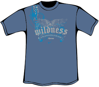 In Wildness T-Shirt (Heavyweight - Blue)