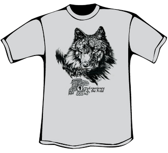 Wolf and Raven T-Shirt (Organic - Silver)